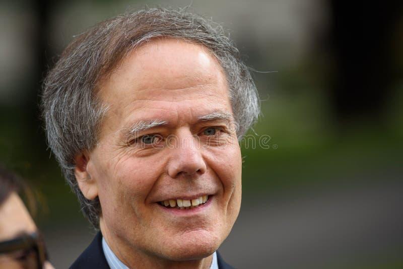 Enzo Moavero Milanesi Minister de asuntos exteriores de Italia imagen de archivo libre de regalías