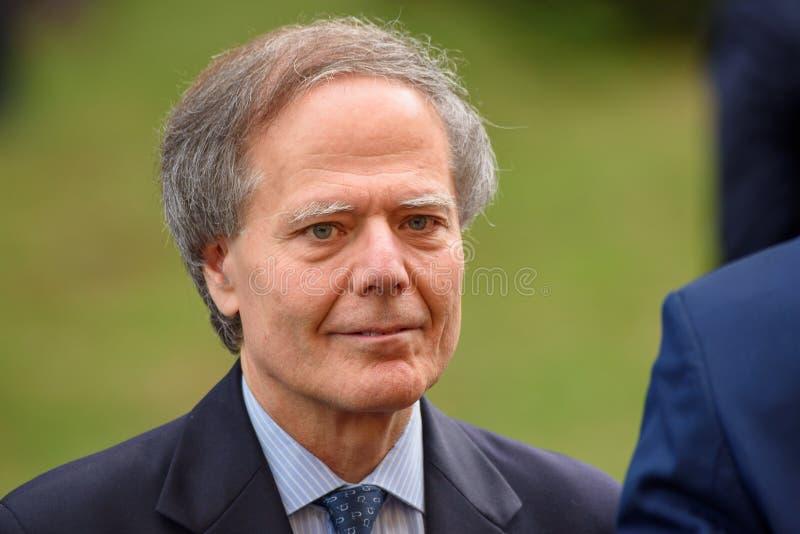 Enzo Moavero Milanesi Minister de asuntos exteriores de Italia imagen de archivo