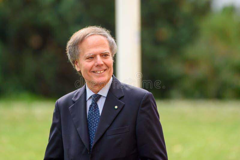 Enzo Moavero Milanesi Minister de asuntos exteriores de Italia foto de archivo libre de regalías
