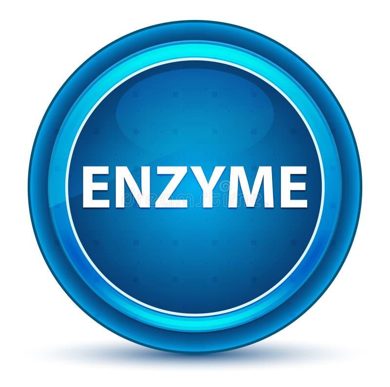 Enzym gałki ocznej Round Błękitny guzik ilustracji