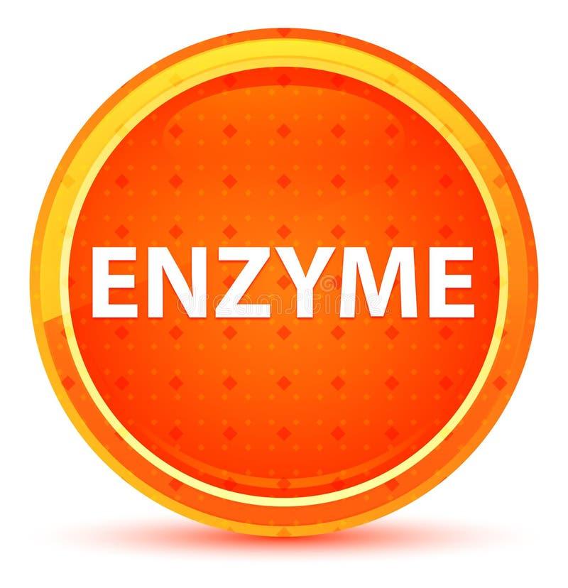 Enzymu Round Naturalny Pomarańczowy guzik royalty ilustracja