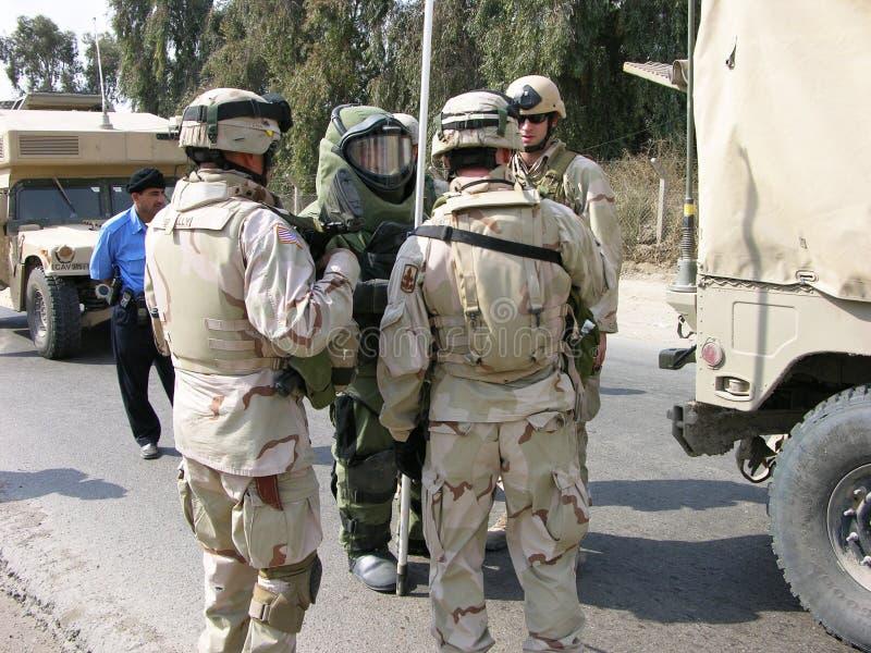 EOD Team, Bagdad royalty-vrije stock foto