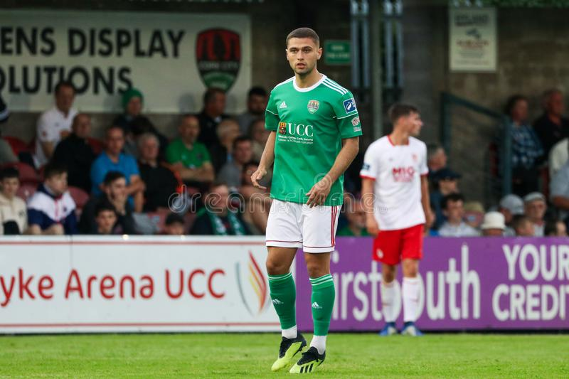 Eoghan Stokes at League of Ireland Premier Division match between Cork City FC vs St Patricks Athletic FC stock photos
