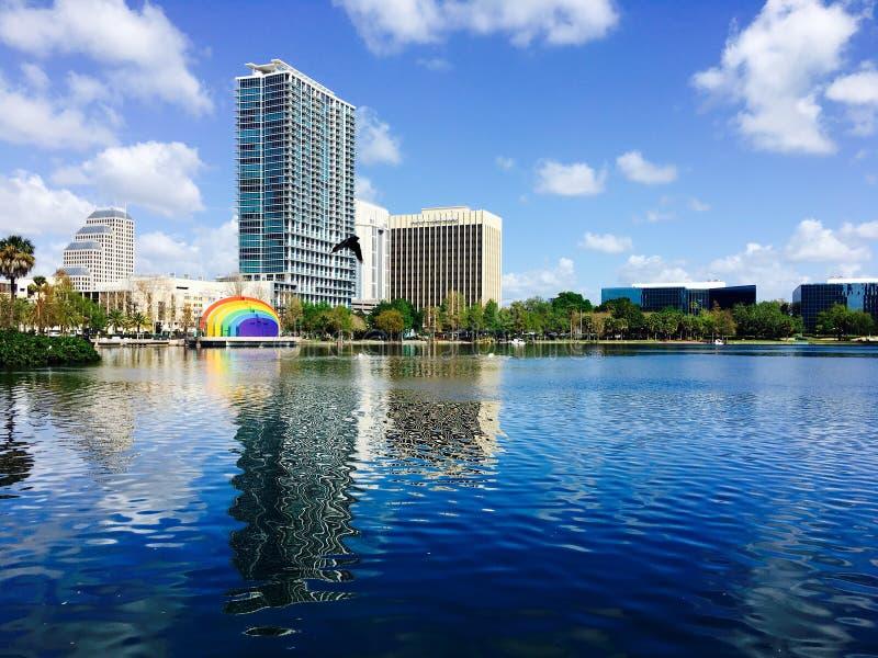 Eola de parc d'Orlando photo libre de droits