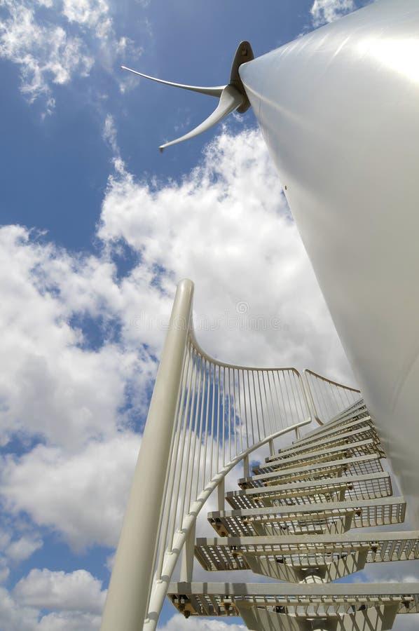 Eolic - turbina de vento foto de stock
