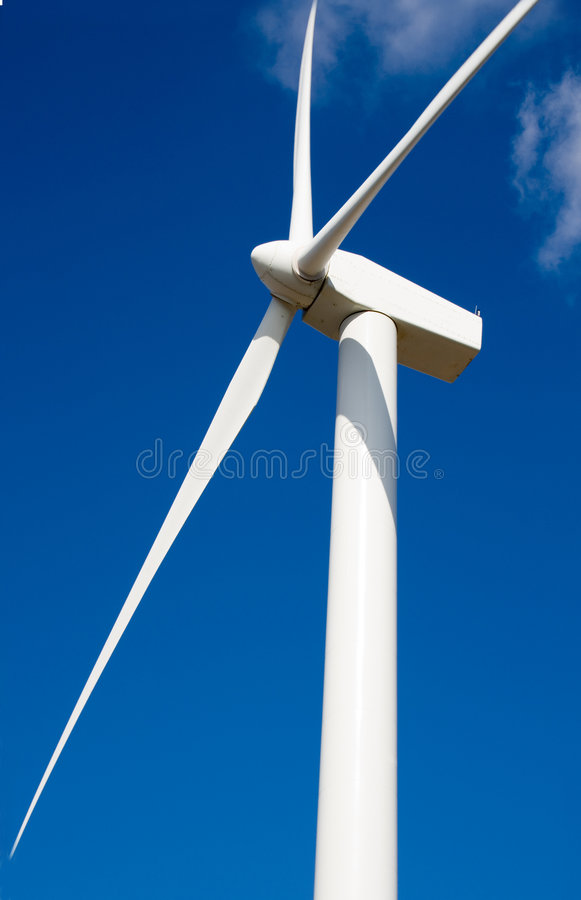 Eolic in a wind farm royalty free stock photography