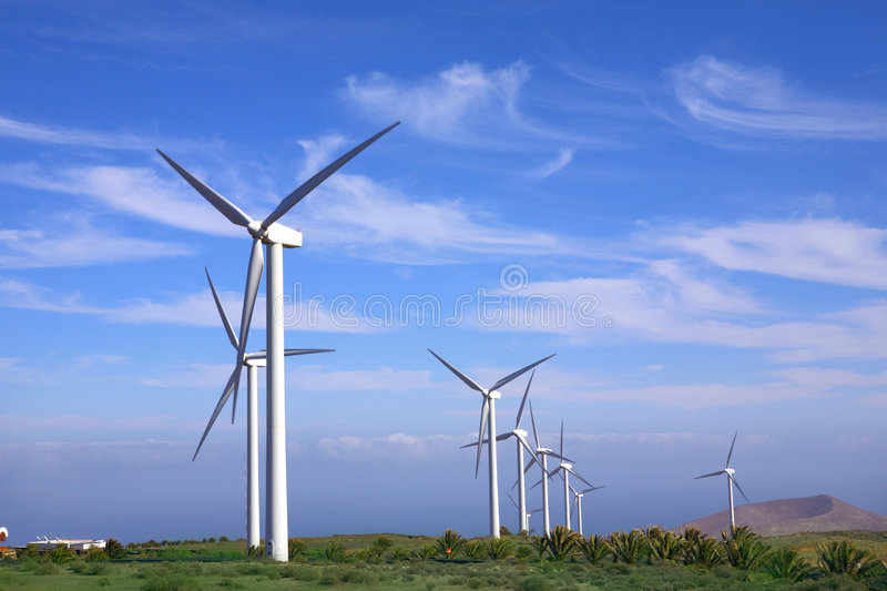 Eolic - wind turbine royalty free stock image
