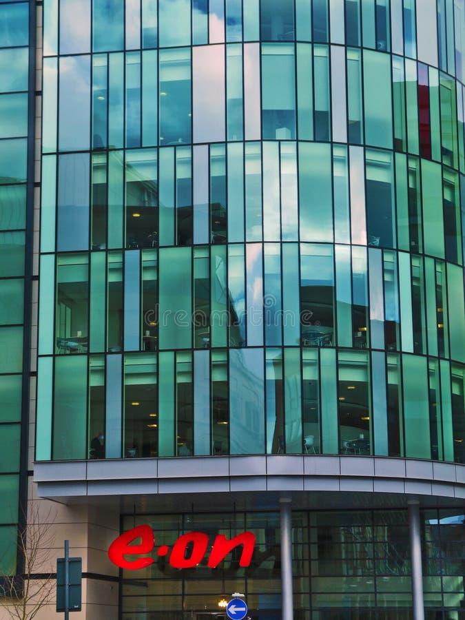 E.on-högkvarter, Nottingham fotografering för bildbyråer