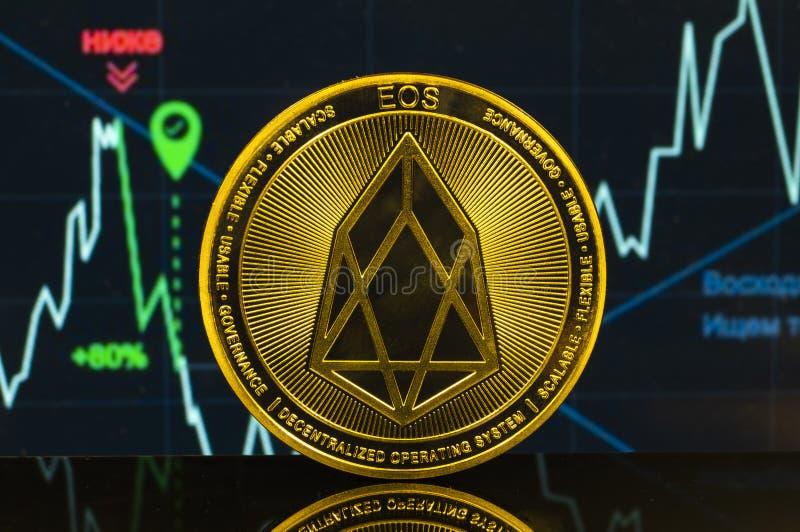 EOS是交换和这隐藏货币一个现代方式  库存照片
