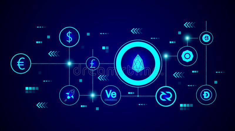 eos icon. From Crepto currency set vector illustration