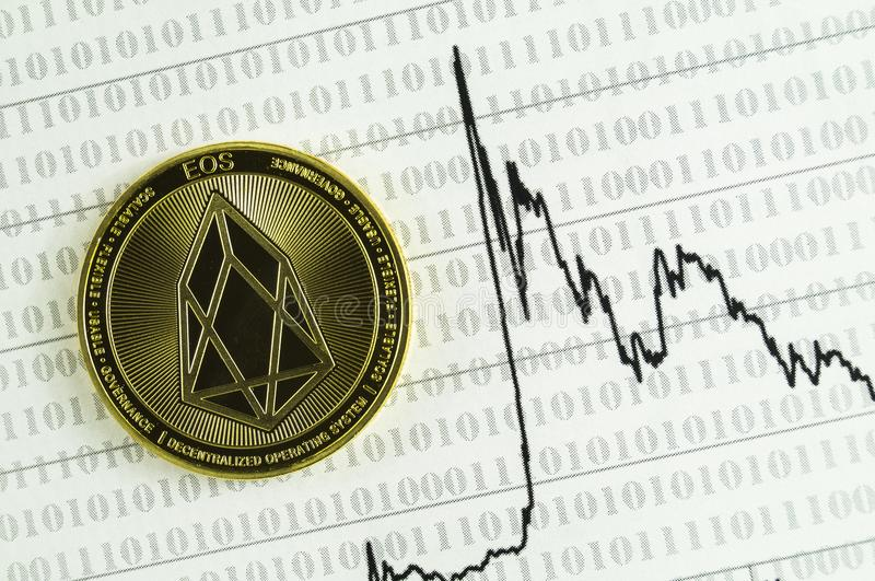 EOS is a modern way of exchange and this crypto currency is a convenient means of payment in the financial and web markets. EOS is a modern way of exchange and royalty free stock photos