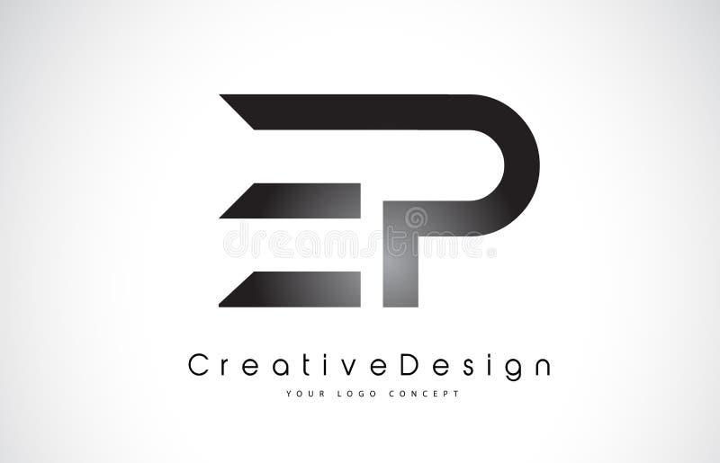 EP E P Letter Logo Design. Creative Icon Modern Letters Vector L stock illustration