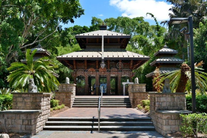 Epalese fredpagod i Brisbane, Australien arkivbild