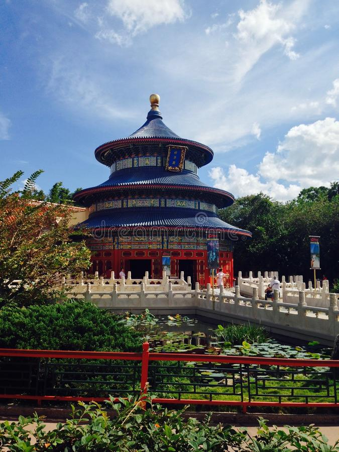 Epcot迪斯尼世界的佛罗里达中国 库存照片