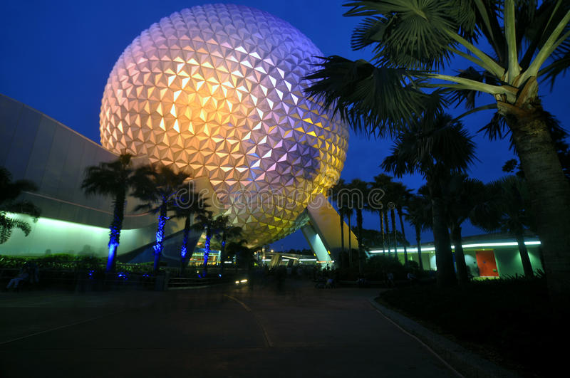 Epcot Center at Night royalty free stock image