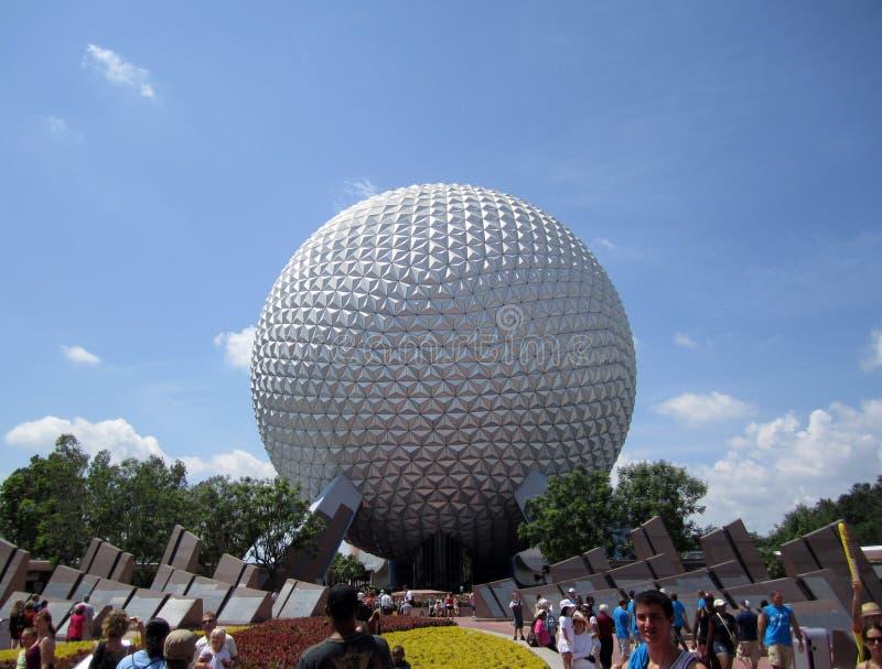 Epcot Kugel Orlando Florida lizenzfreies stockbild