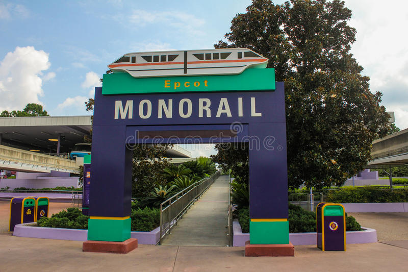 Epcot Monrail royaltyfri fotografi