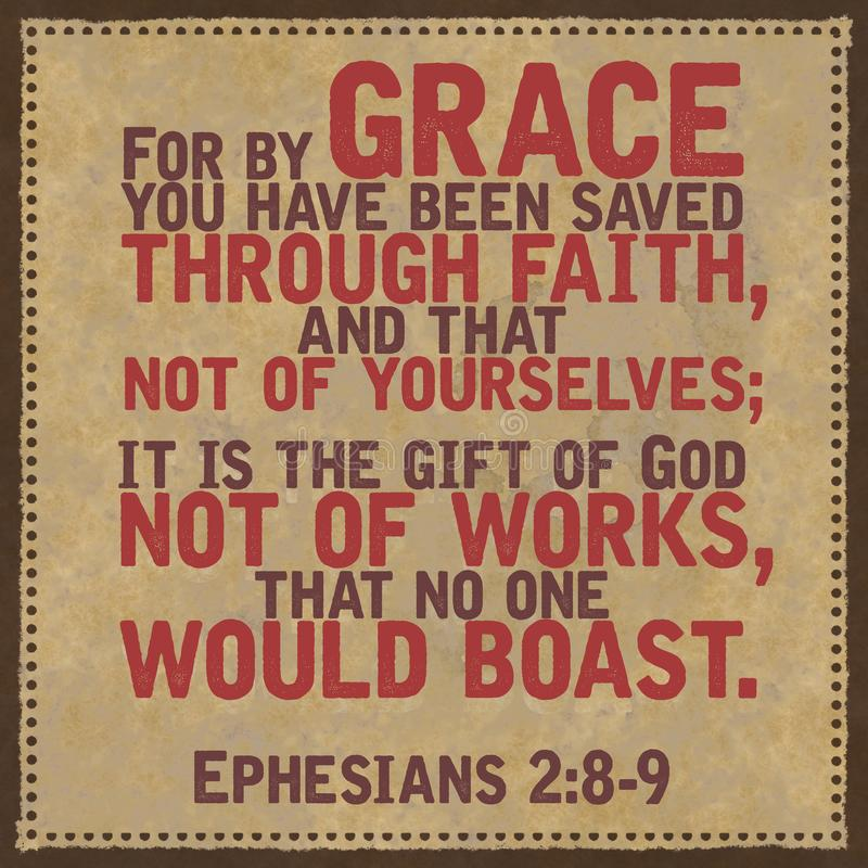 Ephesians 2:8-9 biblii werset obrazy royalty free