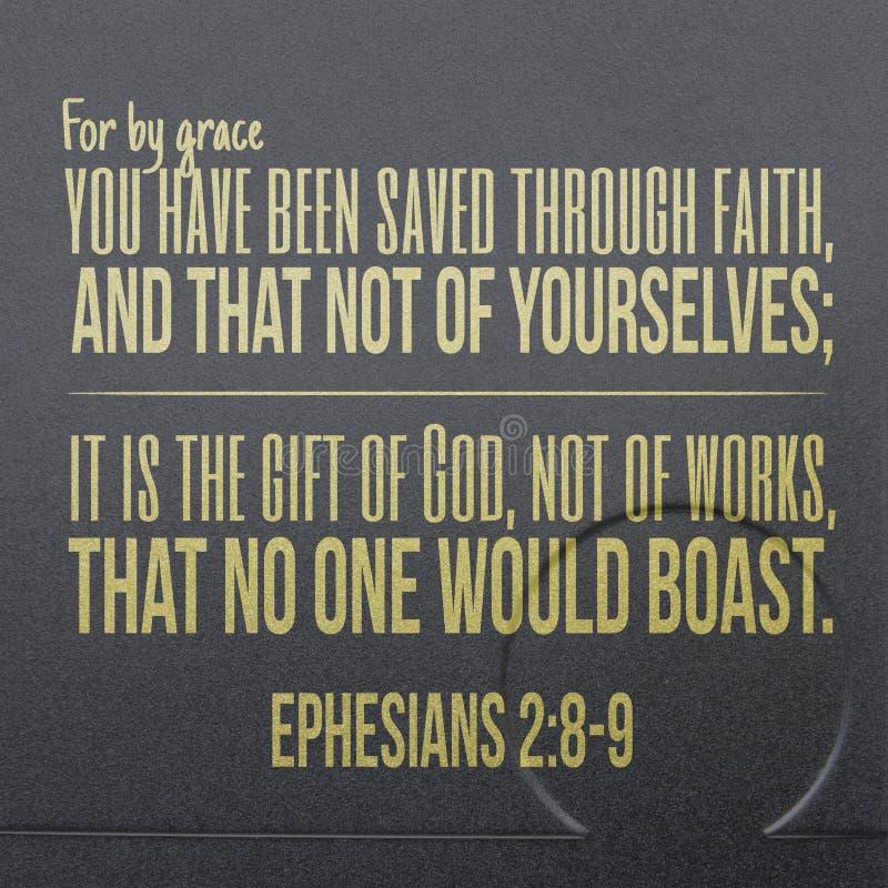 Ephesians 2:8-9 biblii werset zdjęcia royalty free