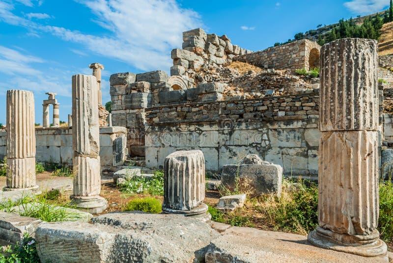 Ephesus破坏土耳其 图库摄影