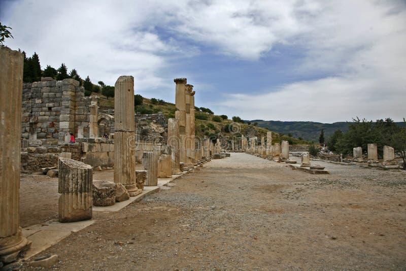 Ephesus alte Stadt stockfotos