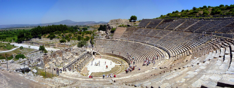 Ephesus Amphitheatre stockfotos