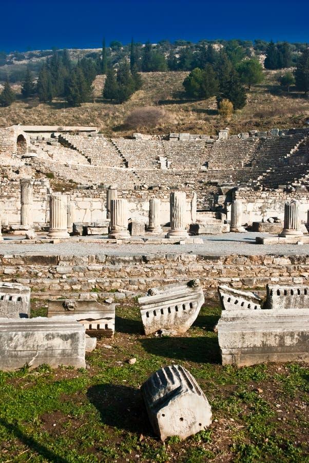 Ephesus Amphitheatre stock photography