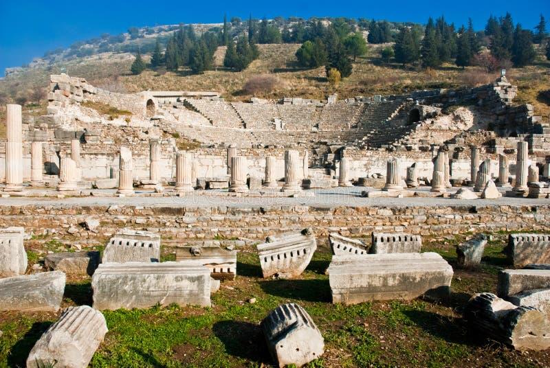 Ephesus Amphitheatre royalty free stock photo