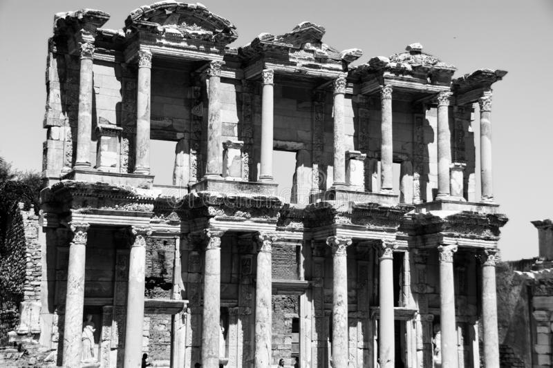 Ephesus ancient city, celcius library. The Library of Celcus at the archaeological site of Ephesus, Turkey stock image