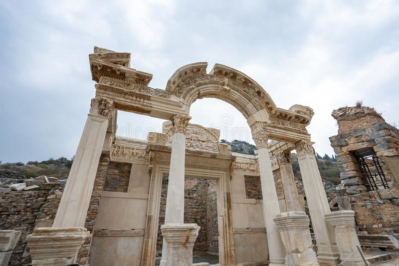 Ephesus the ancient Greek city in Selcuk, Izmir province Turkey.  royalty free stock image