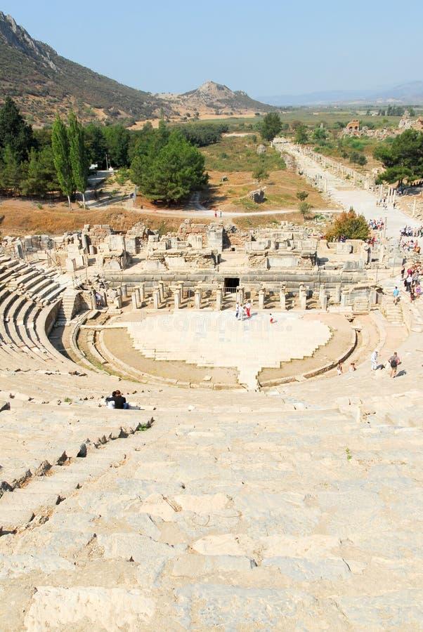 Ephesus antiguo, Turquía fotografía de archivo