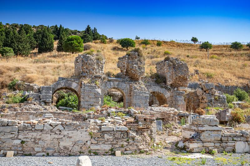 ephesus antique de ville image stock