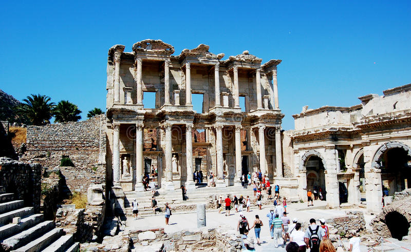 Ephesus Celcius Library royalty free stock photography
