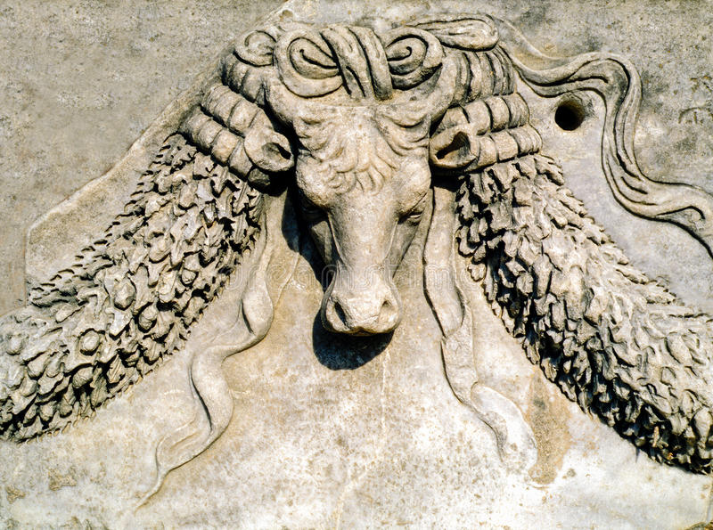Ephesus, Detail royalty-vrije stock afbeelding