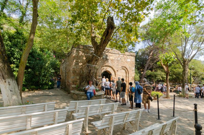 Ephesus,Izmır,TURKEY-August 19,2018:The House of the Virgin Mar. Y to be the last residence of Mary, mother of Jesus. Visited by tourists stock images