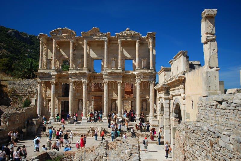 Ephesus library stock photography