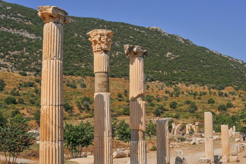 Ephesus, na província atual de Izmir, Turquia imagens de stock royalty free