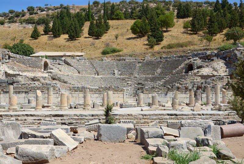 Ephesus odeon στοκ φωτογραφία