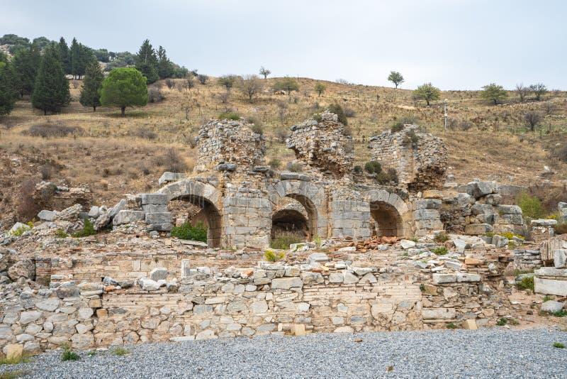 Ephesus ruine la ville du grec ancien à Izmir, Turquie images libres de droits