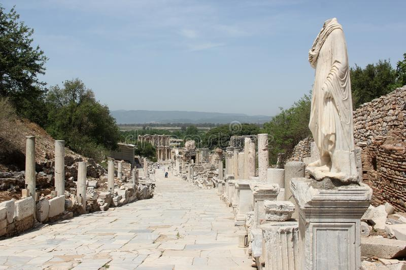 Ephesus. The ruins of the archaeological site of Ephesus, Turkey stock images