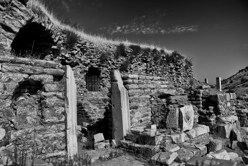 Download Ephesus Ruins B&W stock image. Image of attraction, ruins - 27598629