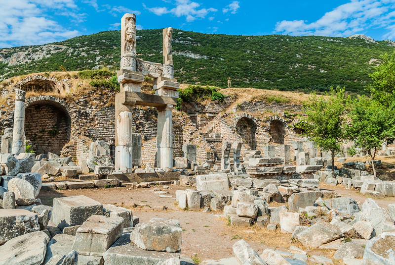 Download Ephesus ruins Turkey stock photo. Image of place, nobody - 28113818