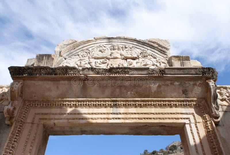 Ephesus-Tor-Bogen stockfotografie