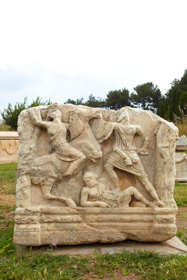 Download Ephesus in Turkey stock photo. Image of carved, carving - 22497912