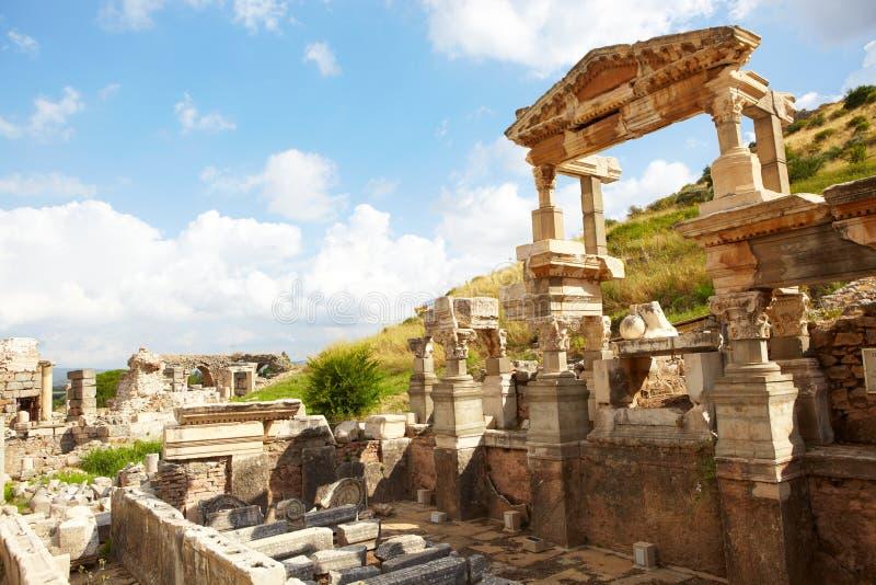 Ephesus in Turkije stock foto's