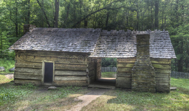 Ephraim Beluje beli kabinę, Great Smoky Mountains park narodowy zdjęcie stock