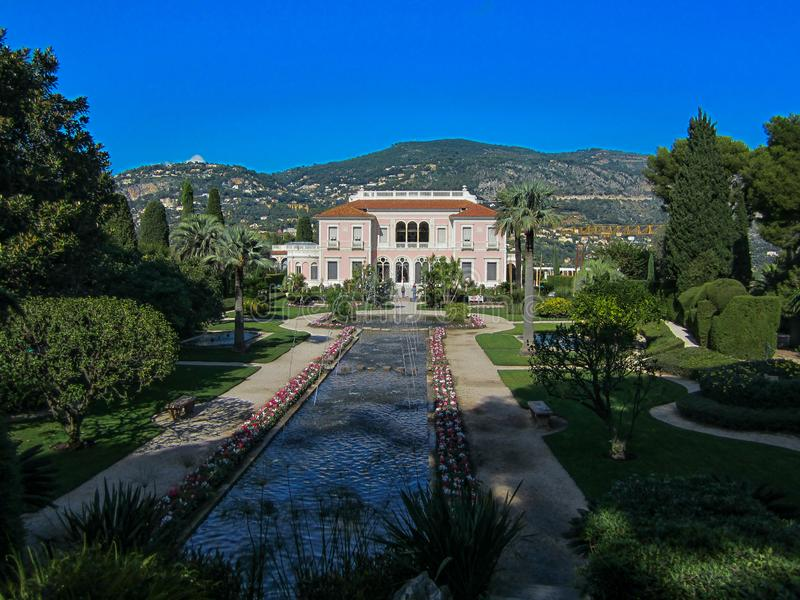 Ephrussi de Rothschild villa in the South of France royalty free stock photography