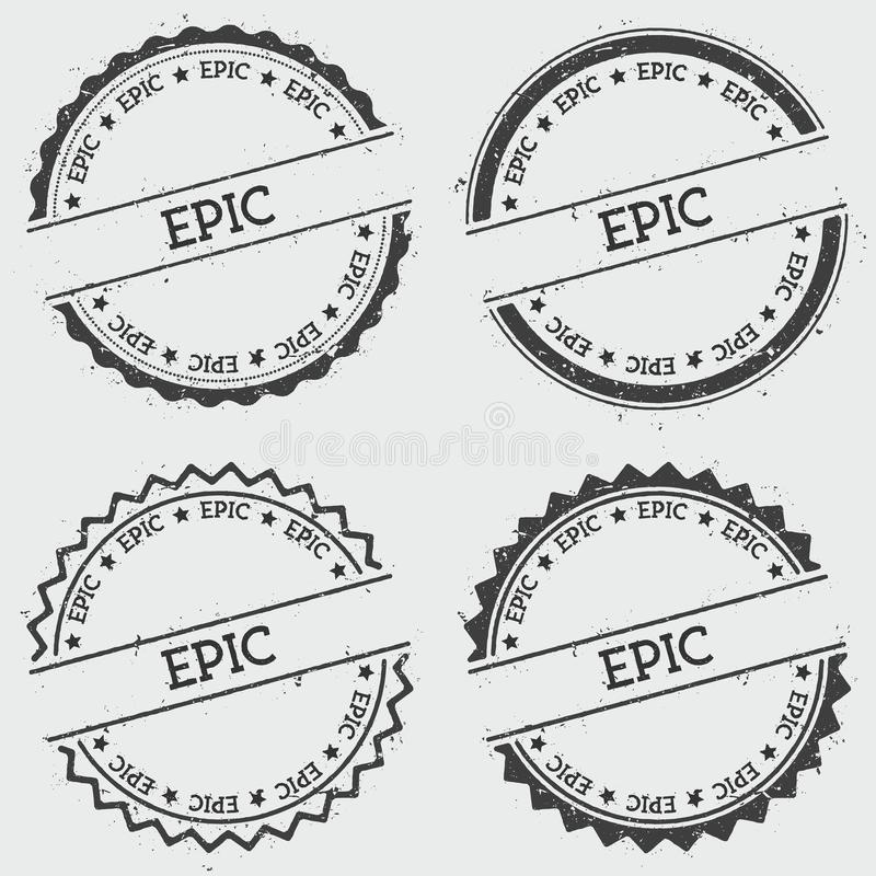 Epic insignia stamp isolated on white background stock vector download epic insignia stamp isolated on white background stock vector illustration of emblem voltagebd Images