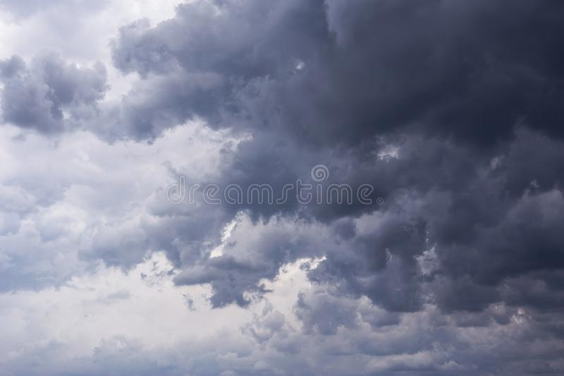 Epic scenic Storm sky, dark clouds background texture. Darkness. And light royalty free stock photography