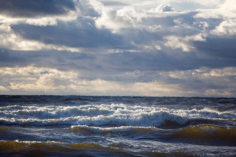 Download Epic sea stock image. Image of daytime, dark, clouds, ashore - 4296055
